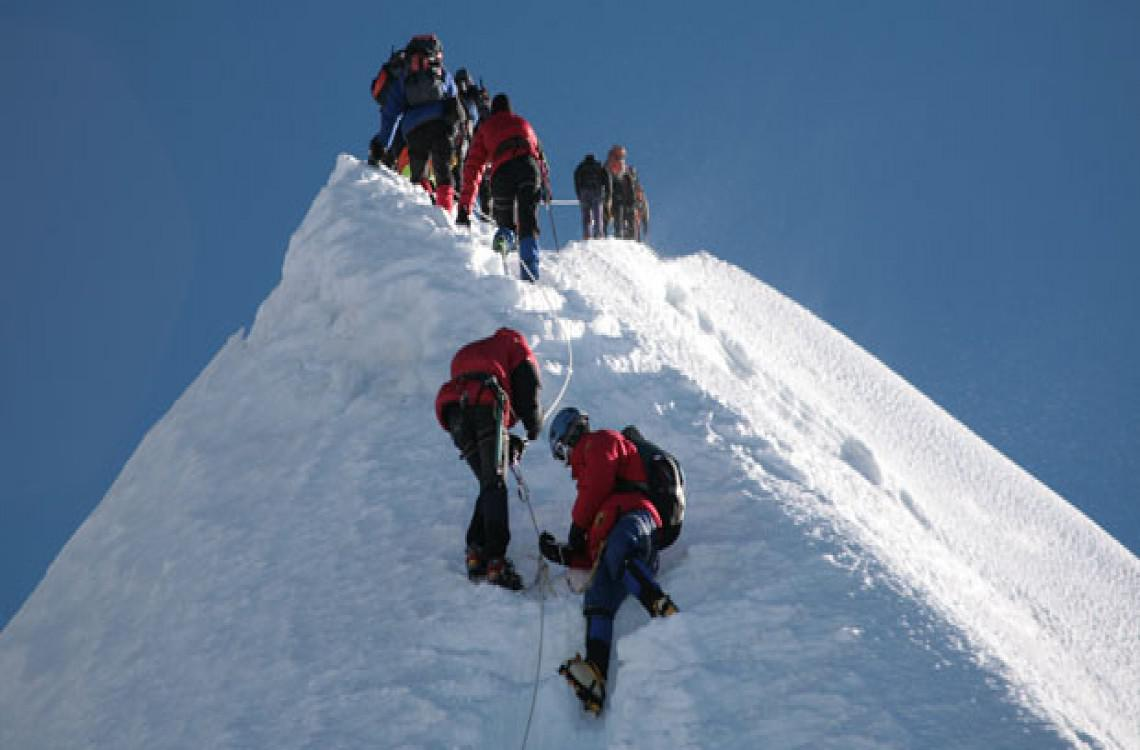 Climbing the summit