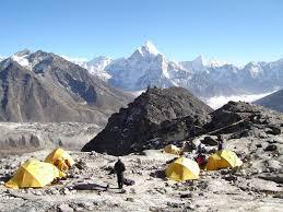 Lobuche Peak with Everest Base Camp